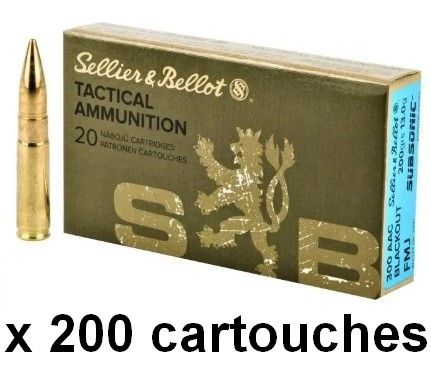 SELLIER BELLOT cal.300 AAC BLACKOUT FMJ Subsonic 200gr /200