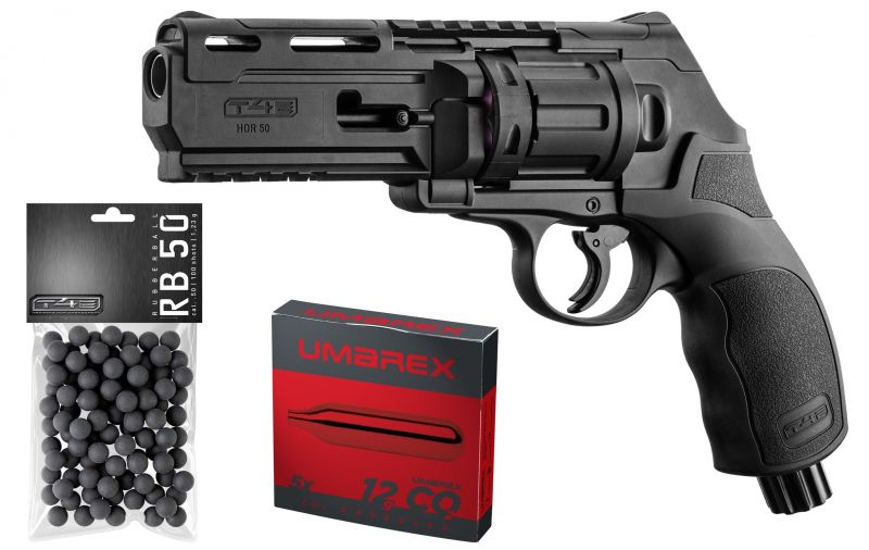 Revolver 6 coups WALTHER T4E HDR 50 cal.50 (11 joules) ''Pack UMAREX''