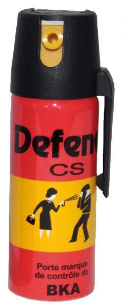 Bombe lacrymogène DEFENOL Gaz CS - 50 ml