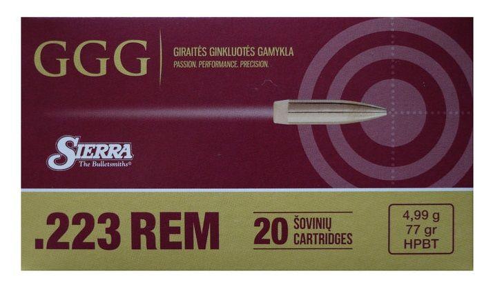 GGG cal.223 Rem SIERRA HPBT Matchking 77gr /20