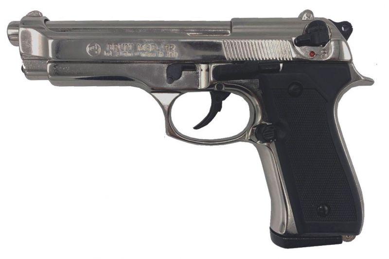 Pistolet BRUNI 92 Nickelé Cal.9mm PA