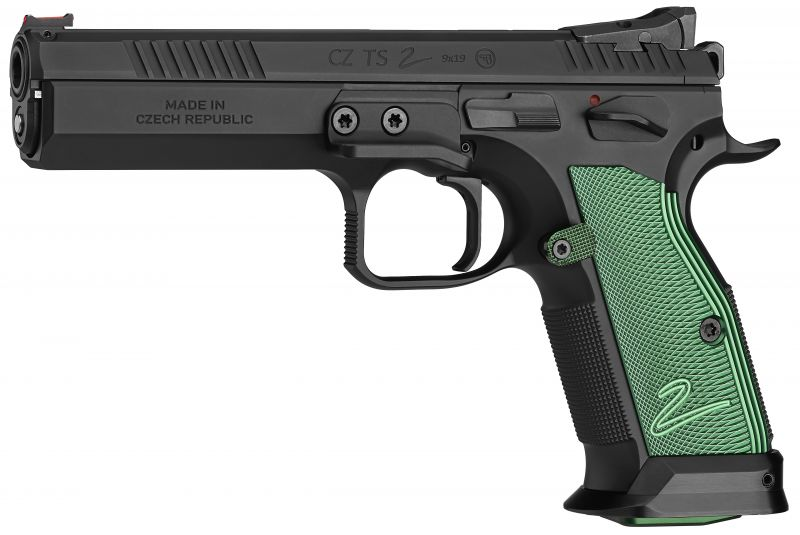 Pistolet CZ 75 TS 2 Racing Green calibre 9x19