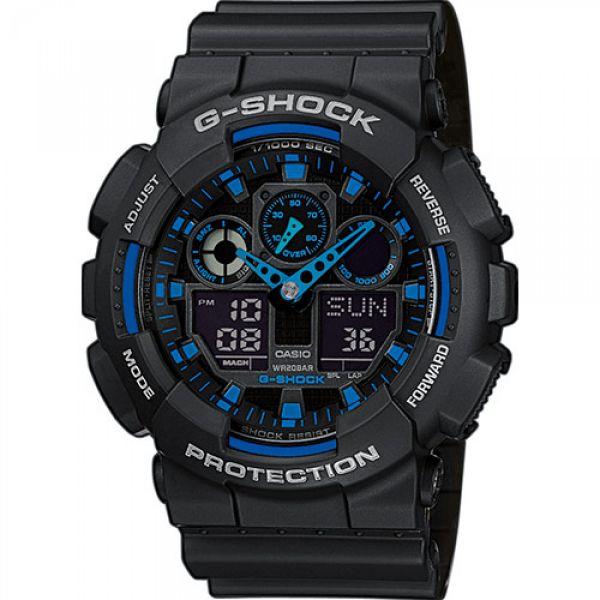 Montre Casio G-Shock Classic GA-100 noir/bleu