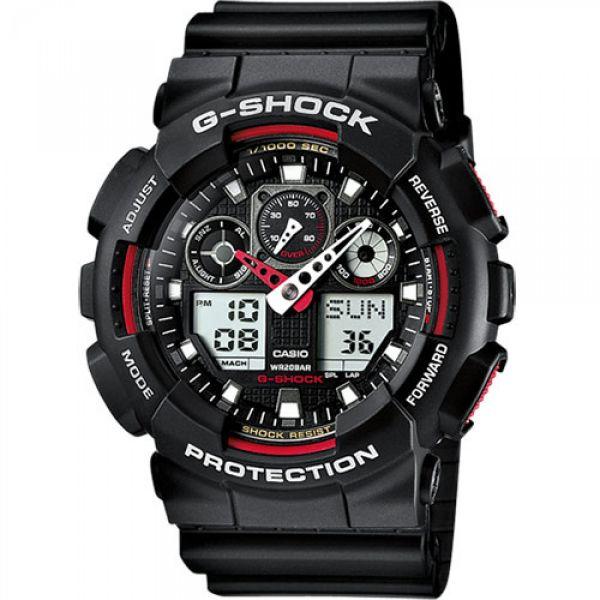 Montre Casio G-Shock Classic GA-100 noir/rouge