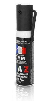 Bombe lacrymogène CBM Gaz CS 70% - 25 ml