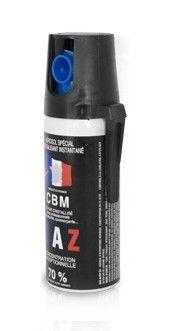 Bombe lacrymogène CBM Gaz CS 70% - 50 ml