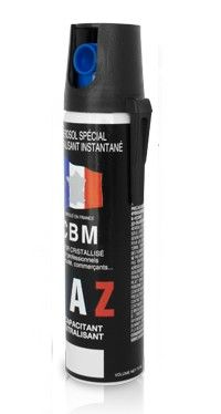 Bombe lacrymogène CBM Gaz CS 70% - 75 ml