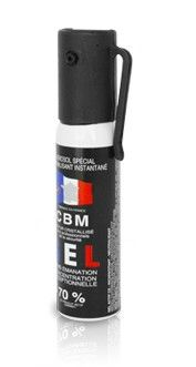 Bombe lacrymogène CBM GEL CS 70% - 25ml