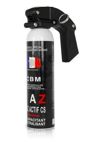Bombe lacrymogène CBM GAZ CS 70% Actif - 100ml avec poignée
