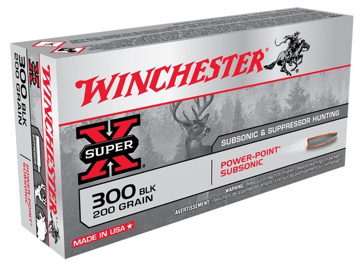 WINCHESTER cal.300 AAC BLACKOUT FMJ Subsonic 200gr /20