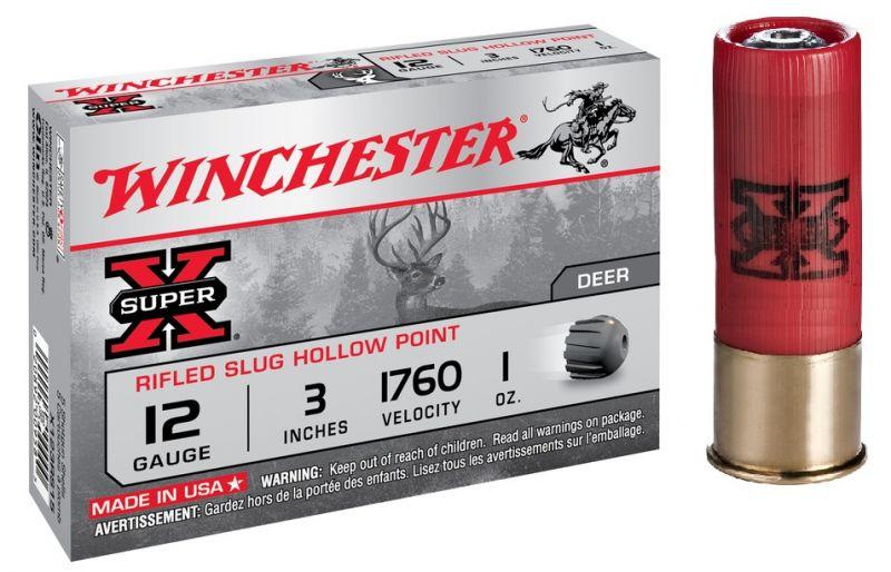 Balles WINCHESTER Slug Hollow Point Magnum cal.12/76 (boite de 5)