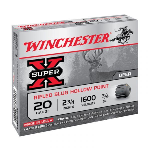 Balles WINCHESTER Slug Hollow Point cal.20/70 (boite de 5)