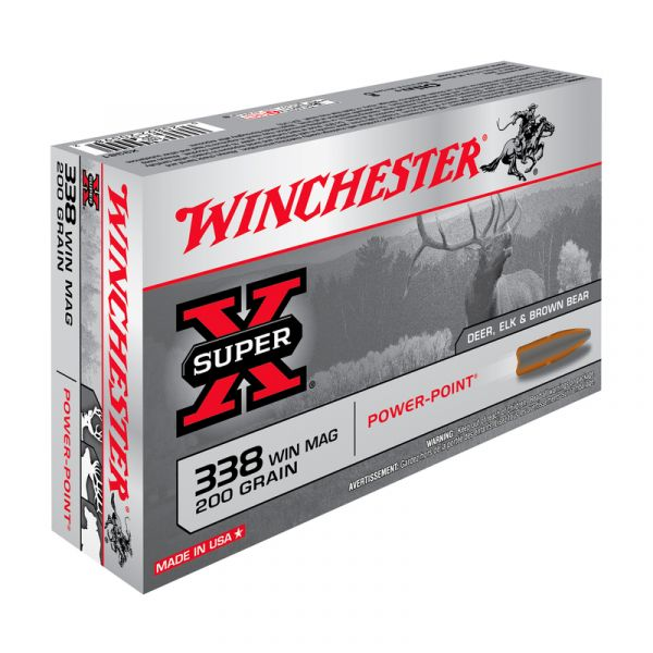 WINCHESTER cal.338 Win Mag Power Point 200 grains - 12.9 grammes /20