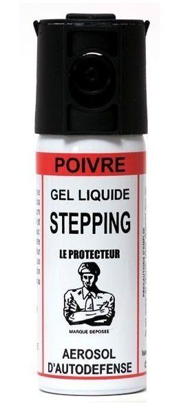 Bombe lacrymogène LE PROTECTEUR Stepping Gel Poivre - 50 ml