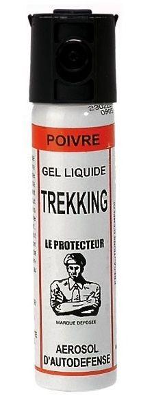 Bombe lacrymogène LE PROTECTEUR Trekking Gel Poivre - 75 ml