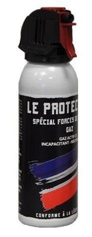 Bombe lacrymogène LE PROTECTEUR Spécial Force de l'Ordre GAZ 70% - 100 ml