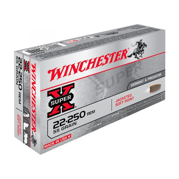 WINCHESTER cal.22-250 Rem Power Point 55 grains - 3.5 grammes /20