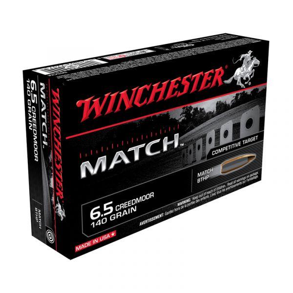 WINCHESTER cal.6,5 Creedmoor Match BTHP 140 grains - 9.1 grammes /20