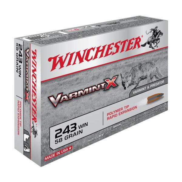 WINCHESTER cal.243 Win VARMINT-X 58 grains - 3.7 grammes /20