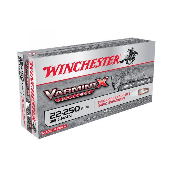 WINCHESTER cal.22-250 Rem Varmint-X Lead Free 38 grains - 2.46 grammes /20