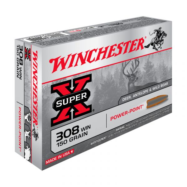 WINCHESTER cal.308 Win Power Point 150 grains - 9.7 grammes /20