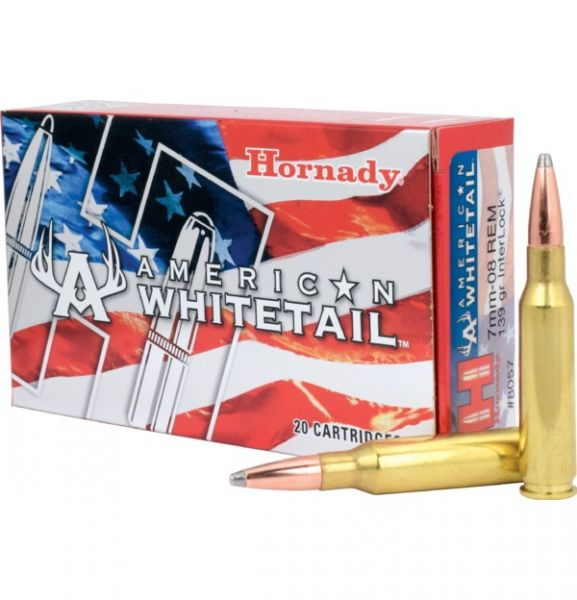 HORNADY cal.7mm-08 Rem INTERLOCK SP American Whitetail 139 grains - 9 grammes