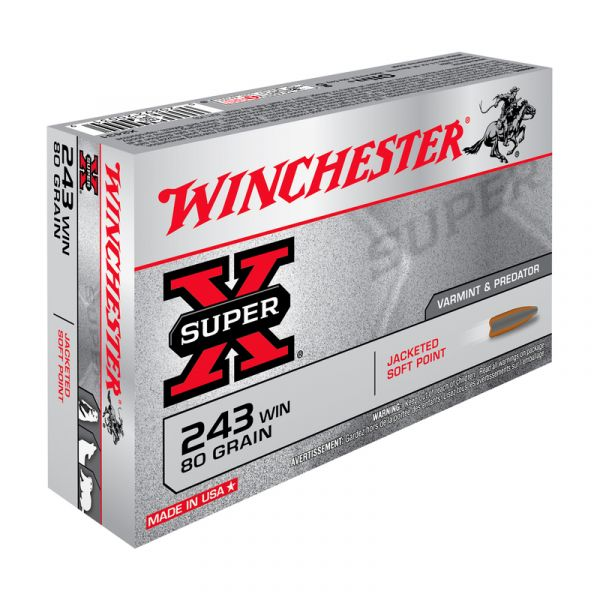 WINCHESTER cal.243 Win Power Point 80 grains - 5.2 grammes /20