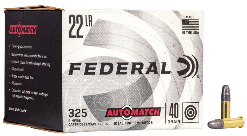 FEDERAL 22lr Target Grade Performance /325 (Spécial semi-auto)