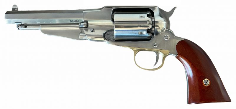Revolver à Poudre Noire Uberti REMINGTON 1858 New Army SHERIFF INOX 5