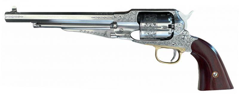 Revolver à Poudre Noire UBERTI REMINGTON 1858 New Improved Inox Luxe