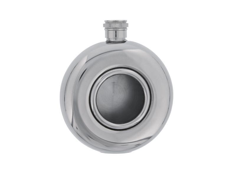 Flasque ronde 150 ML Inox hublot verre