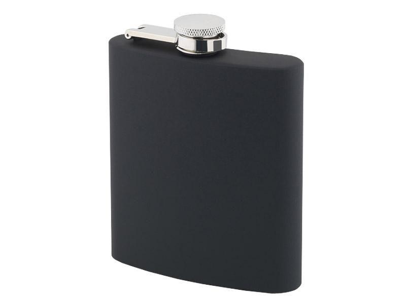 Flasque 180 ML Inox soft touch noire
