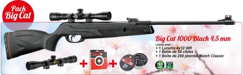 Carabine GAMO Big Cat 1000 Black Combo