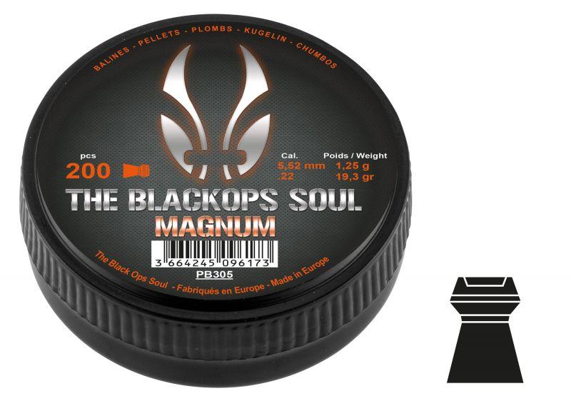 Plombs cal.5,5mm BLACK OPS SOUL Magnum (1.25gr) x200
