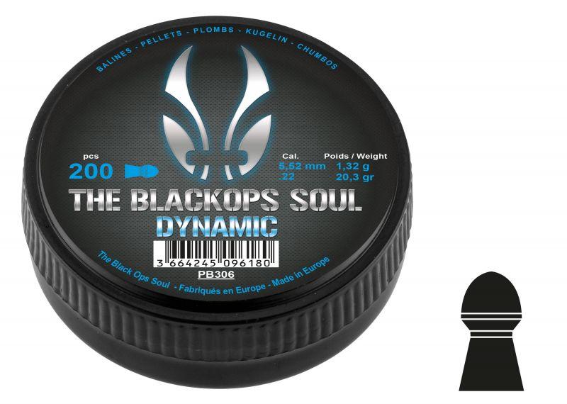 Plombs cal.5,5mm BLACK OPS SOUL Dynamic (1.32gr) x200