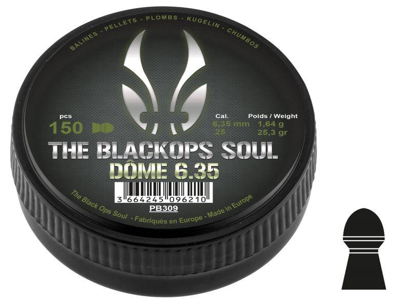 Plombs cal.6,35mm BLACKOPS Soul Dôme (1.64gr) x150