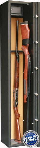 Coffre INFAC Sentinel SD5 4 armes avec lunette + 1 dans la porte - coffre intérieur (42 kg)