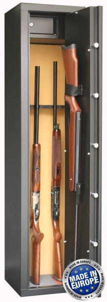 Coffre INFAC Sentinel SD7 6 armes avec lunette + 1 dans la porte - coffre intérieur (53 kg)