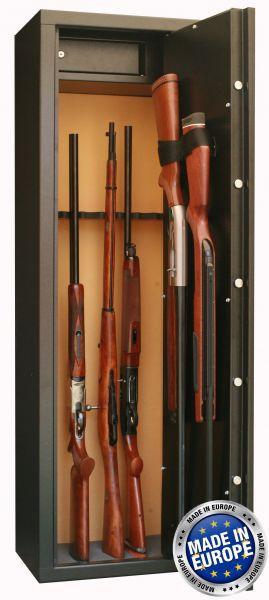 Coffre INFAC Sentinel SD10 8 armes avec lunette + 2 dans la porte - coffre intérieur (64kg)