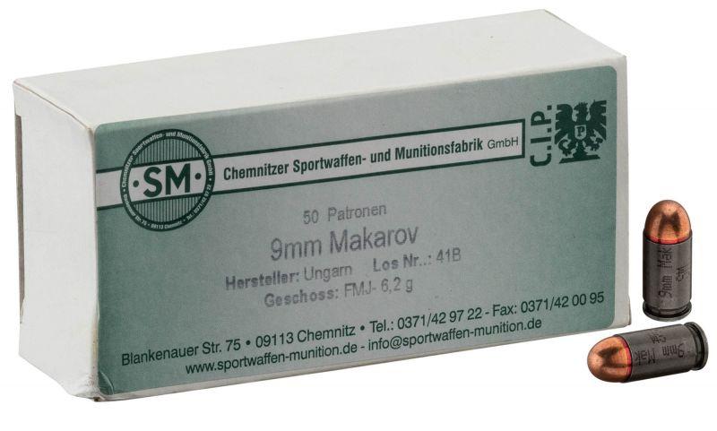 S&M cal.9mm MAKAROV FMJ /50