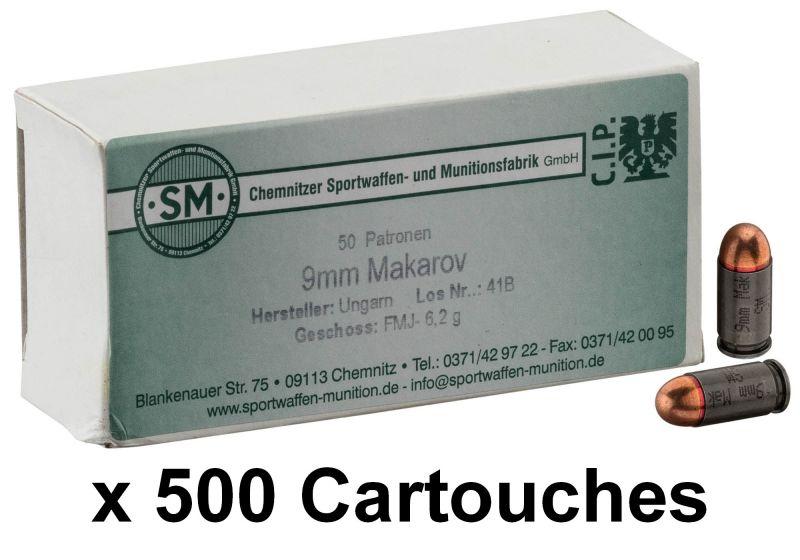 S&M cal.9mm MAKAROV FMJ /500