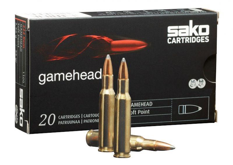 SAKO cal.222 Rem GAMEHEAD 55 grains - 3.5 grammes /20