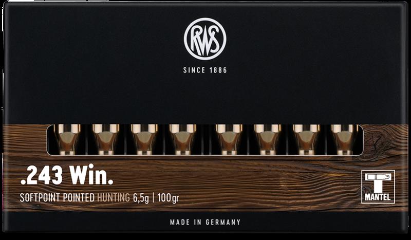RWS cal.243 Win TMS 100 grains - 6.5 grammes /20
