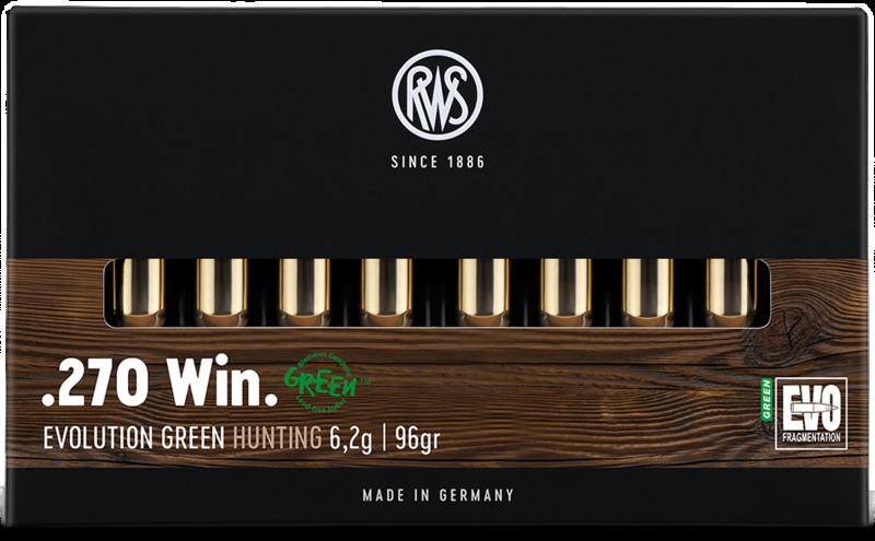 RWS cal.270 Win EVO Green 96 grains - 6.2 grammes /20