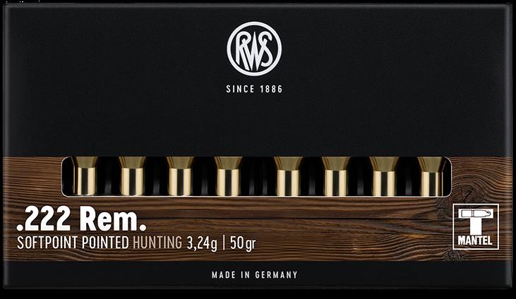 RWS cal.222 Rem TMS 50 grains - 3.2 grammes /20