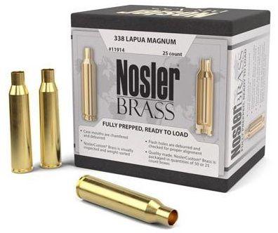 Douilles NOSLER cal.338 Lapua Magnum /25