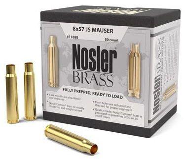 Douilles NOSLER cal.8x57 JS Mauser /50