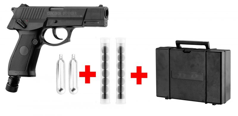 Pistolet 7 coups CONCORDE DEFENDER cal.50 (10 joules) ''Pack''