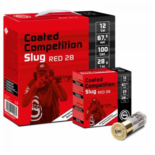 Cartouches GECO Slug Compétition Red 28 gr cal.12 (boite de 100)