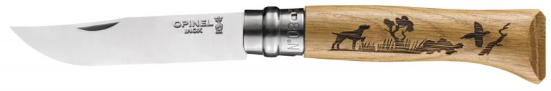 Couteau Opinel Animalia Inox n°8 CHIEN